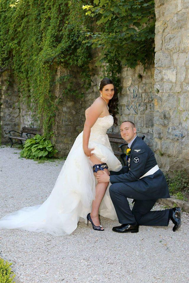 Gallery of custom made military wedding garters