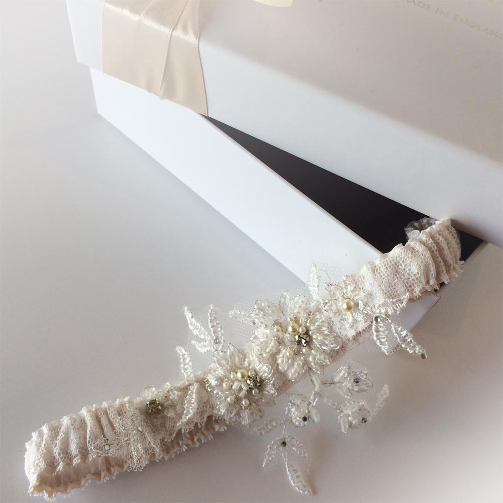 Mia Vintage Silk wedding garter