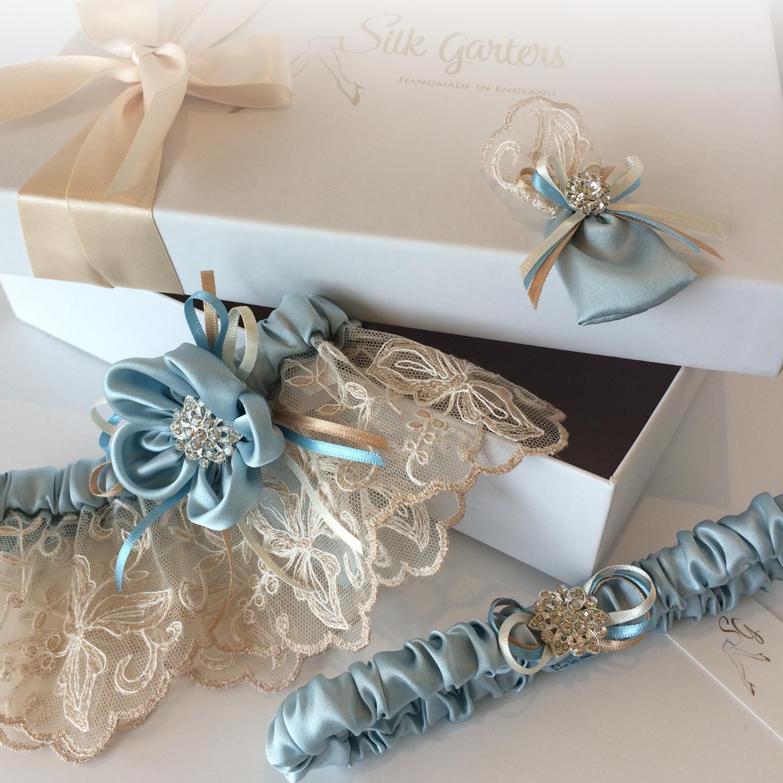 Wedding Garter Symbolism: Ayana Bespoke Wedding Garter And Horseshoe Sets For The Bride