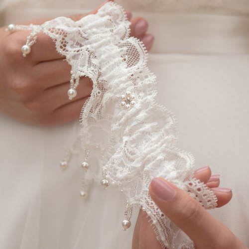 Luxury wedding garter