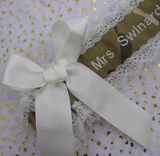 camo wedding garter uk