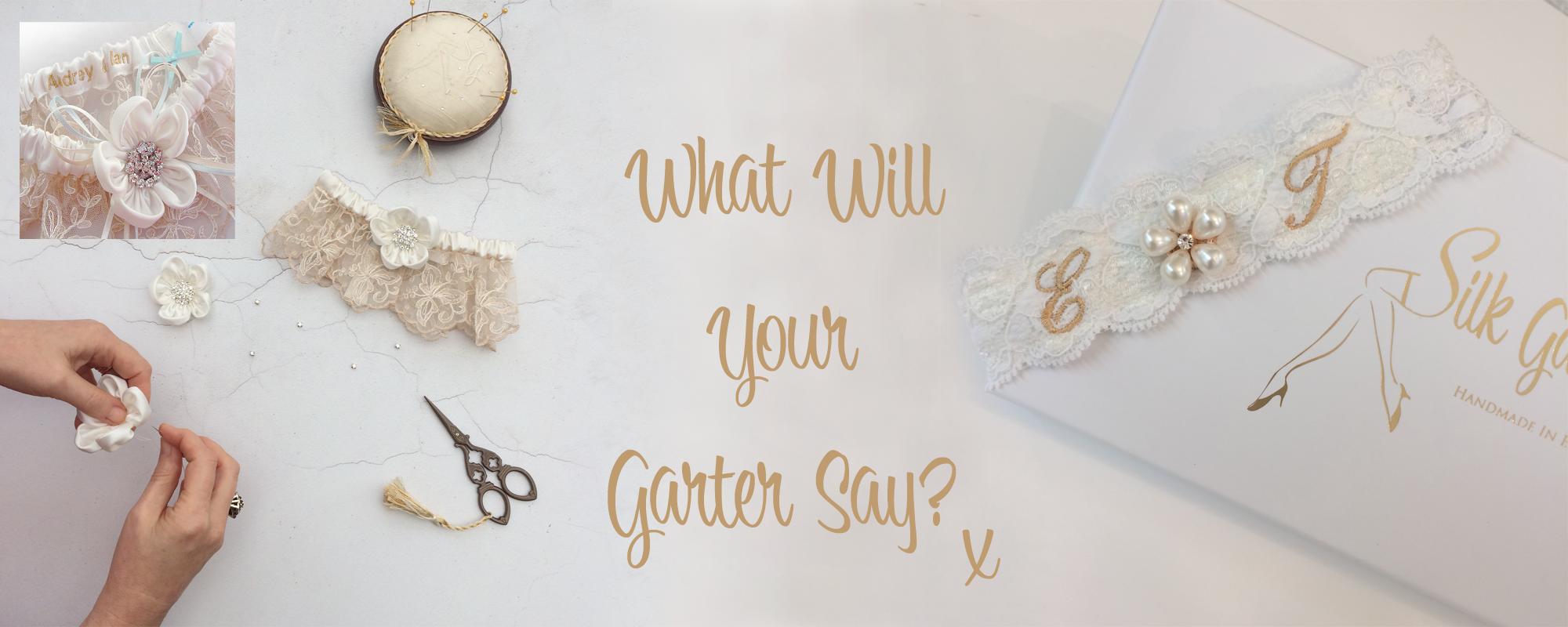 GARTERS WEDDING GARTER. PERSONALISED BRIDAL GARTER /& TOSS GARTER