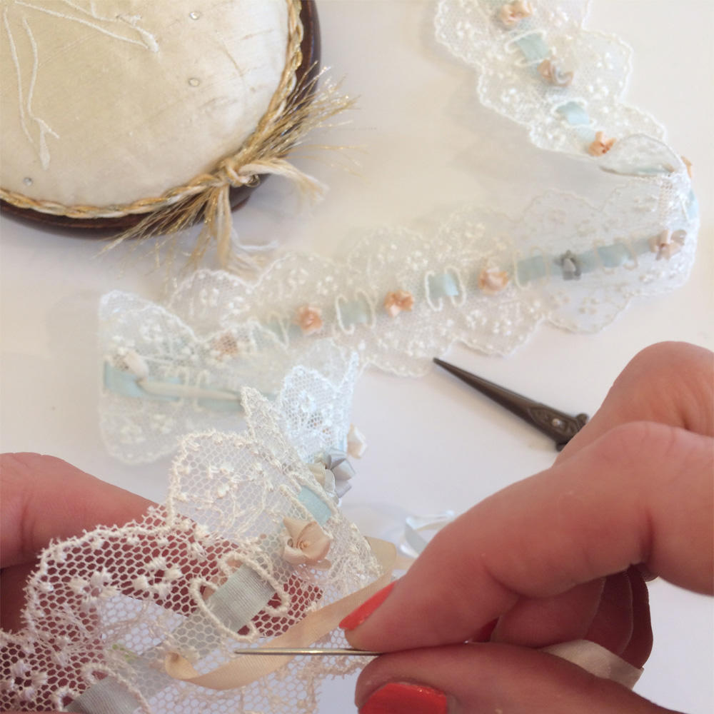#myhandsmaking wedding garter