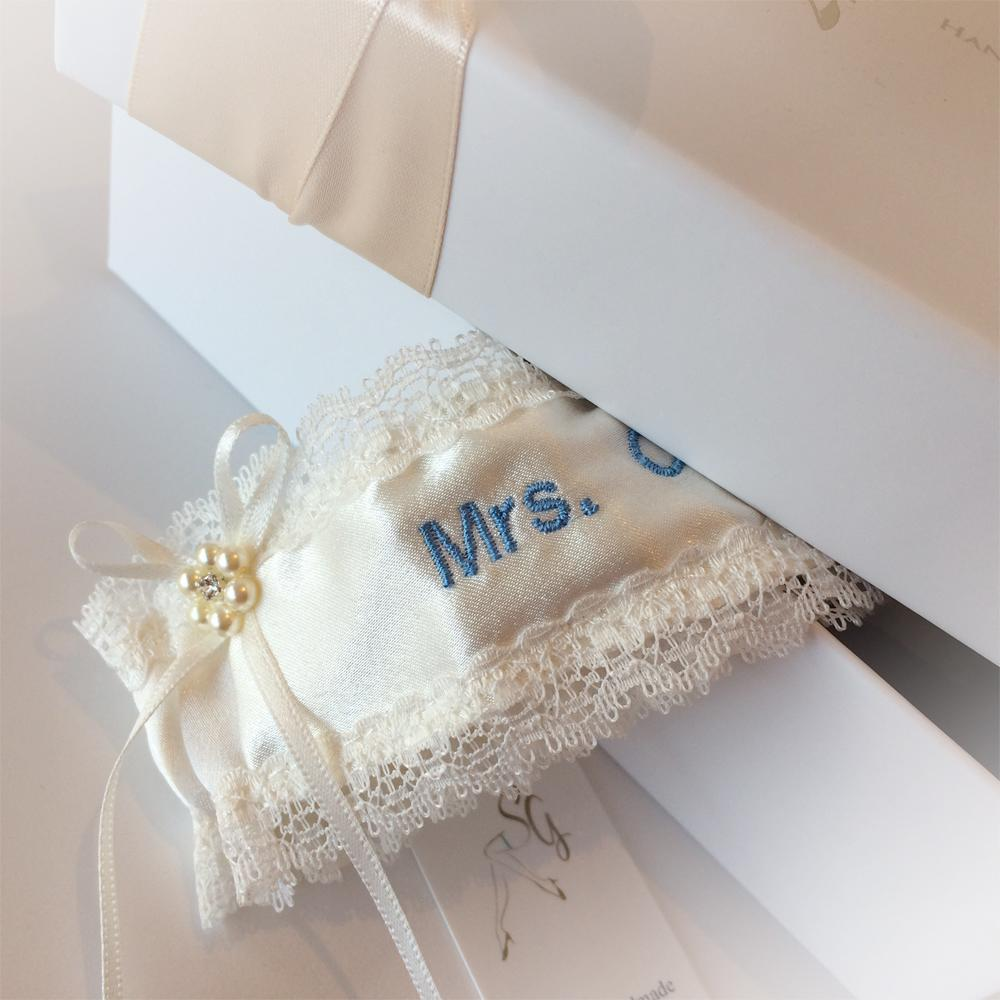 Personalised Wedding Garter in Ivory, New Photos, Best Seller!