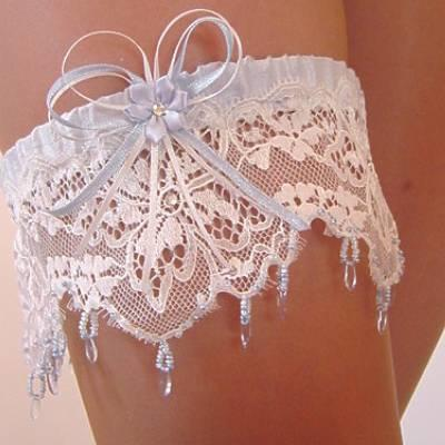 lace wedding garter handmade in uk