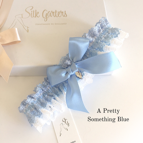 Something blue bridal garter great value Hali