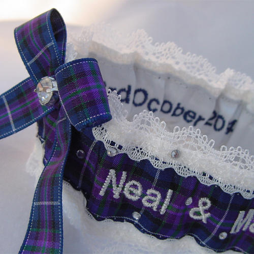 Scottish Tartan Wedding Garters - Style Choices