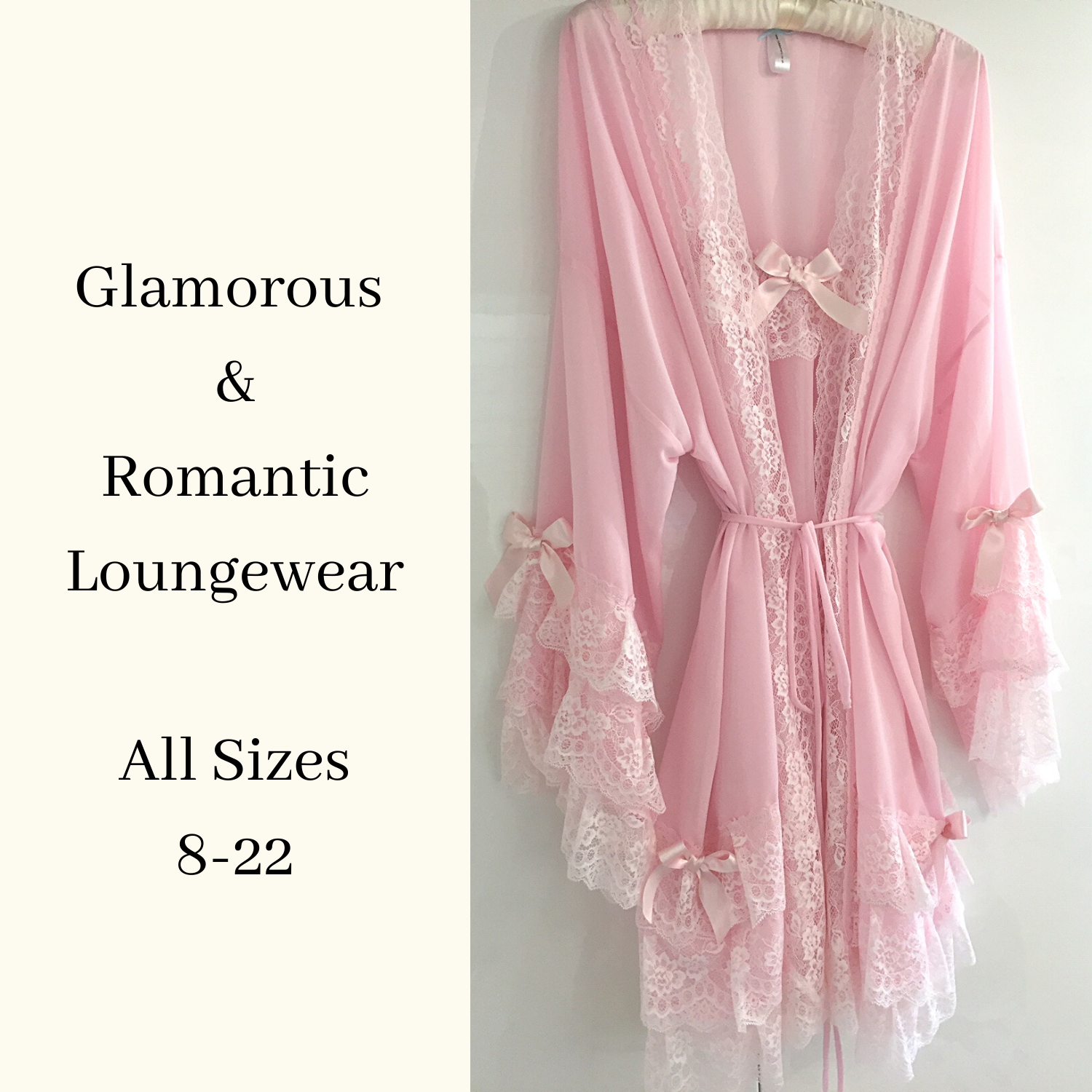 Negligee set UK pink
