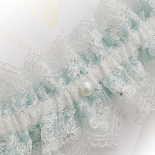 Wonderful Silk Garters Review for the unique Chevron Lace Brides Garter