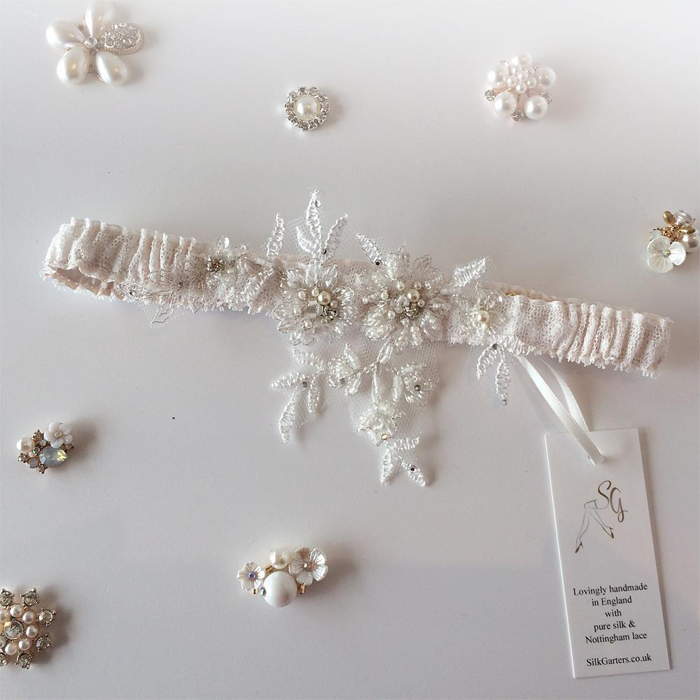 Mia vintage wedding garter