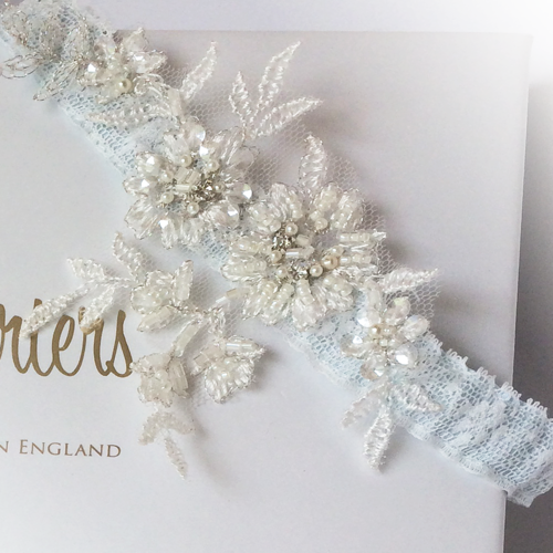 Mia wedding garter something blue