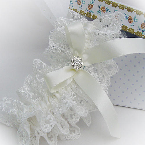 luxury personalised wedding garter