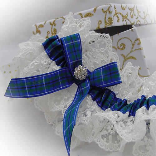 luxury tace wedding garter tartan