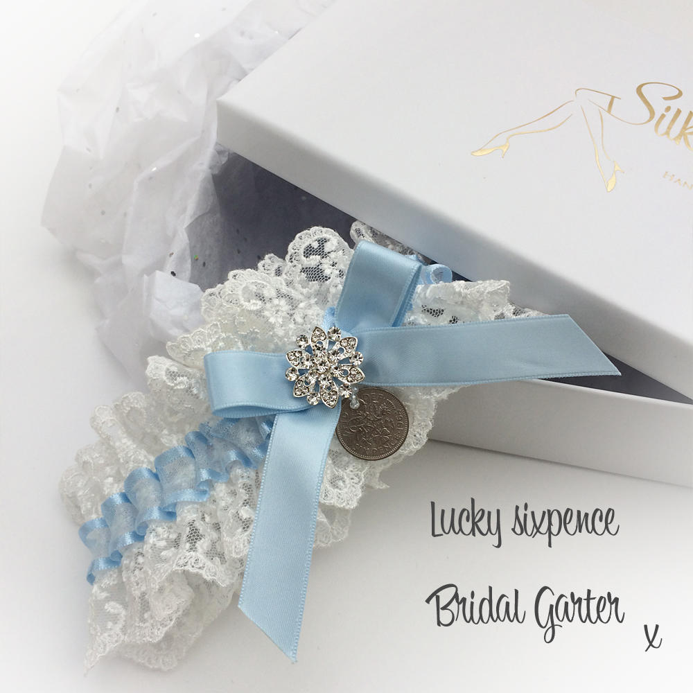 A Lovely Silk Garter Review for the Lucky Sixpence Wedding Garter
