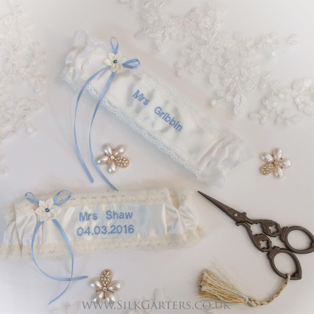 Silk Garters Review of the Personalised Ivory Silk Satin Wedding Garter