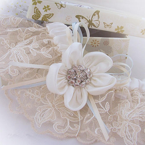luxury bridal garter