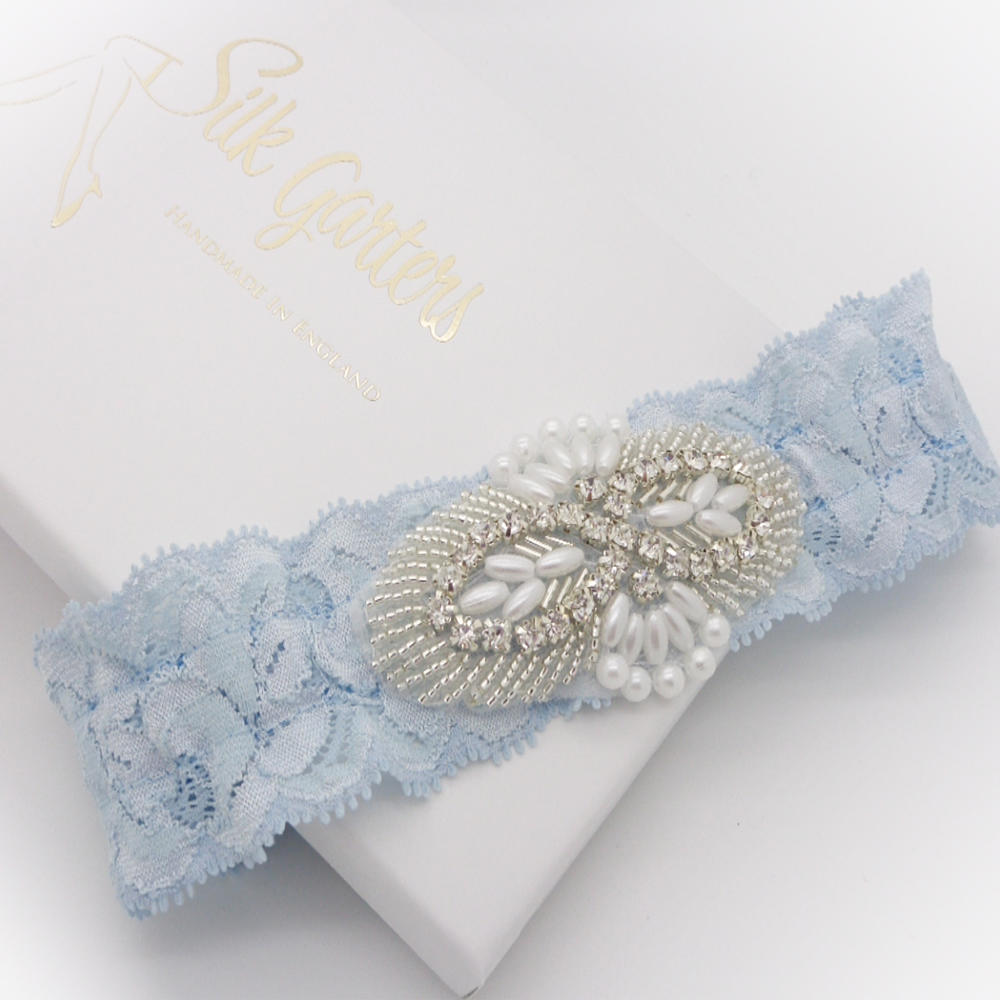 flat lace wedding garter