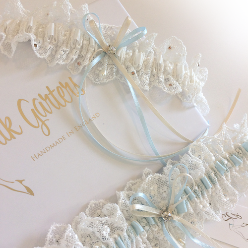 English Nottingham lace wedding garter