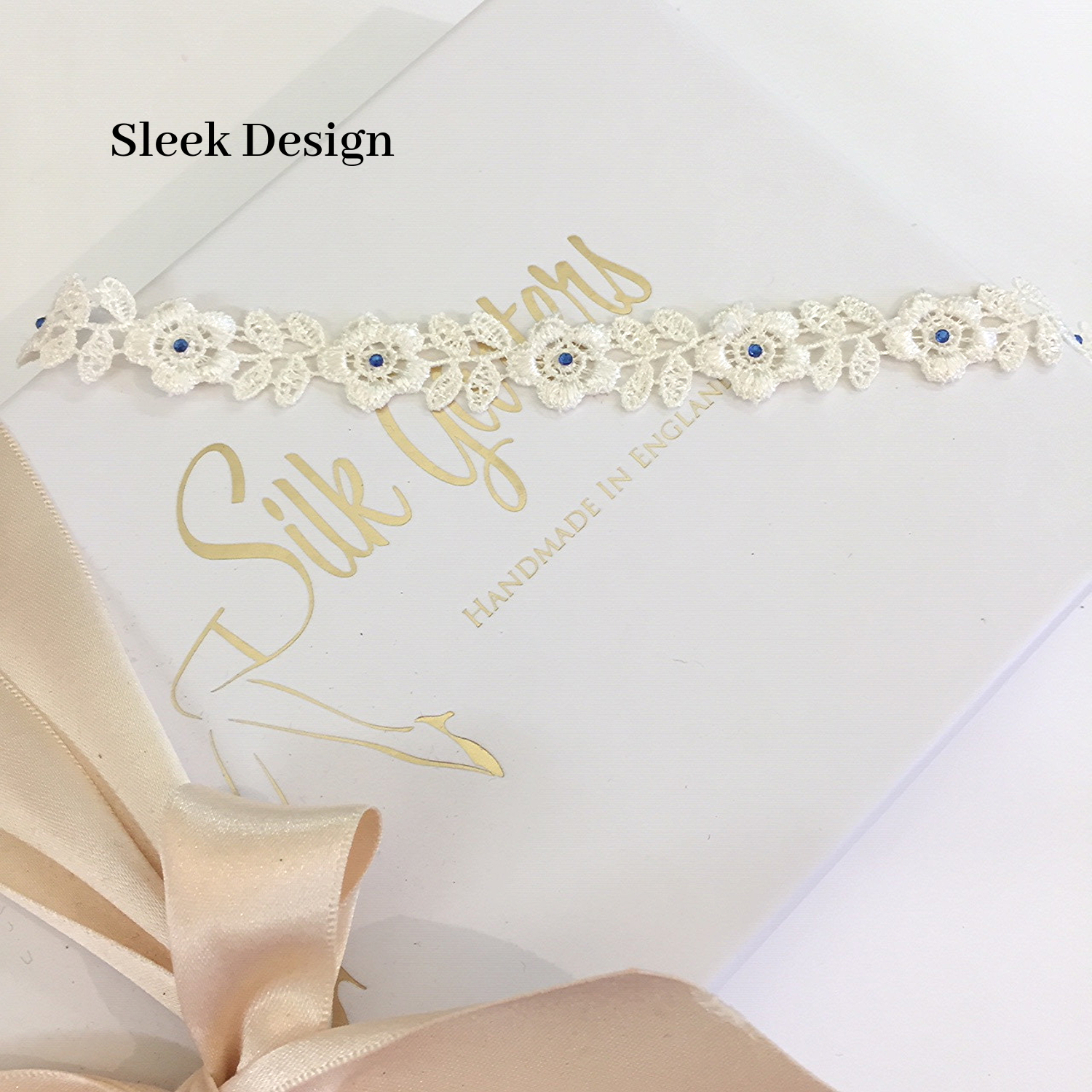 Makayla flat sleek wedding garter