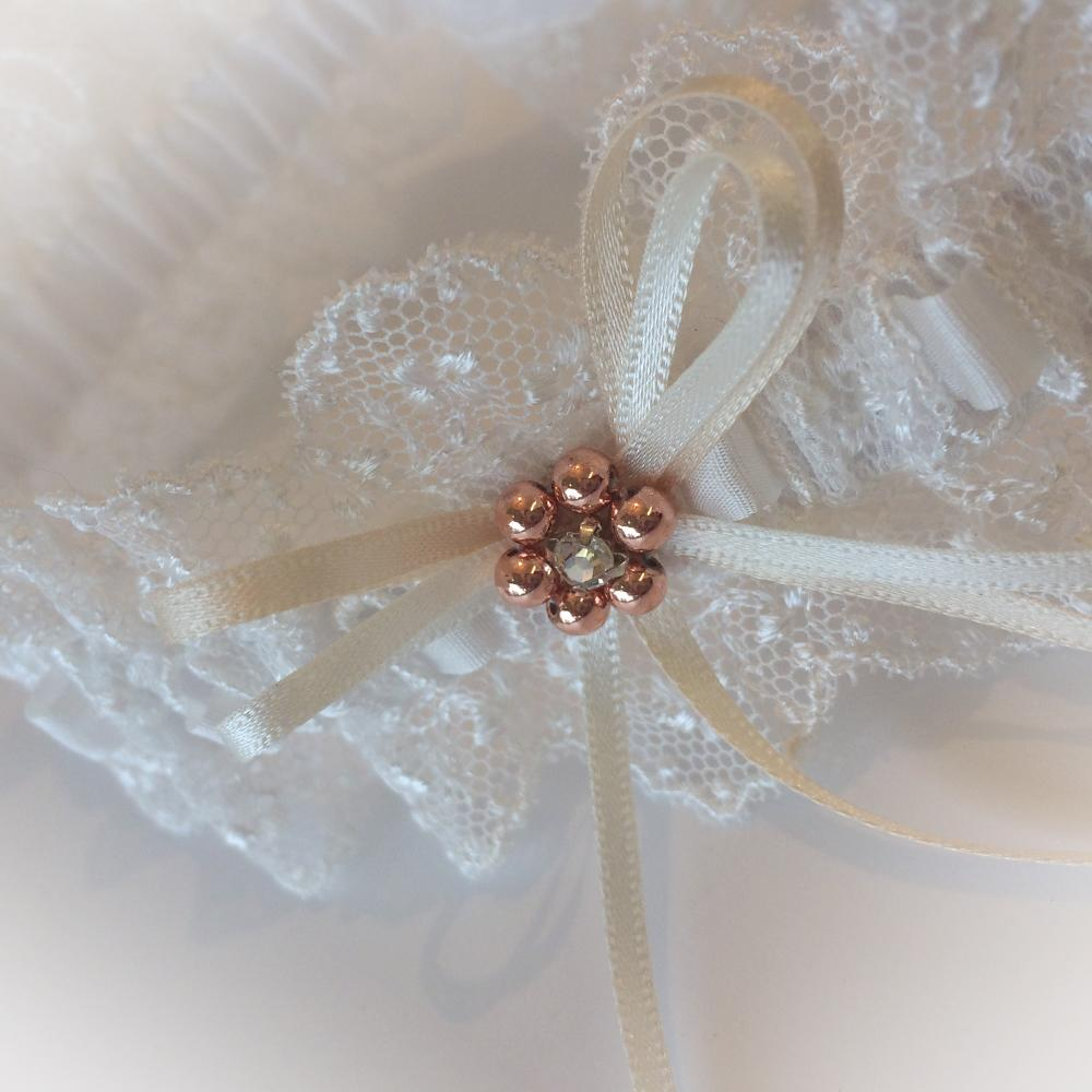 Custom made Leonie garter with rose gold