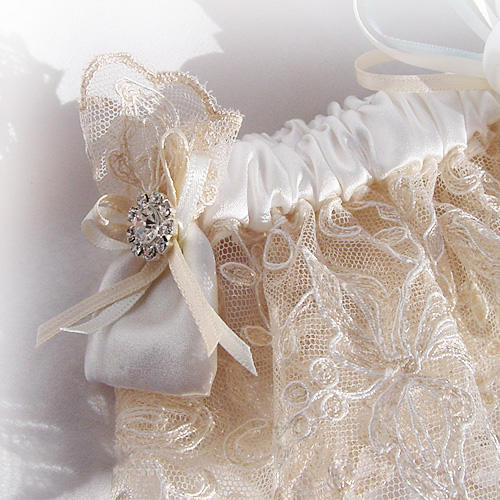 luxury designer wedding garter uk