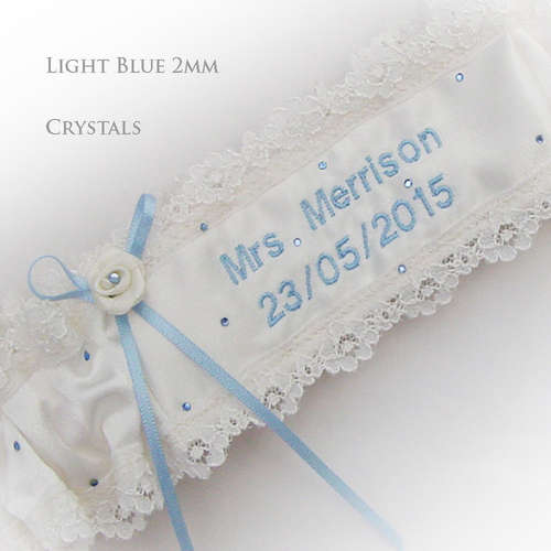 Add crystals to your garter