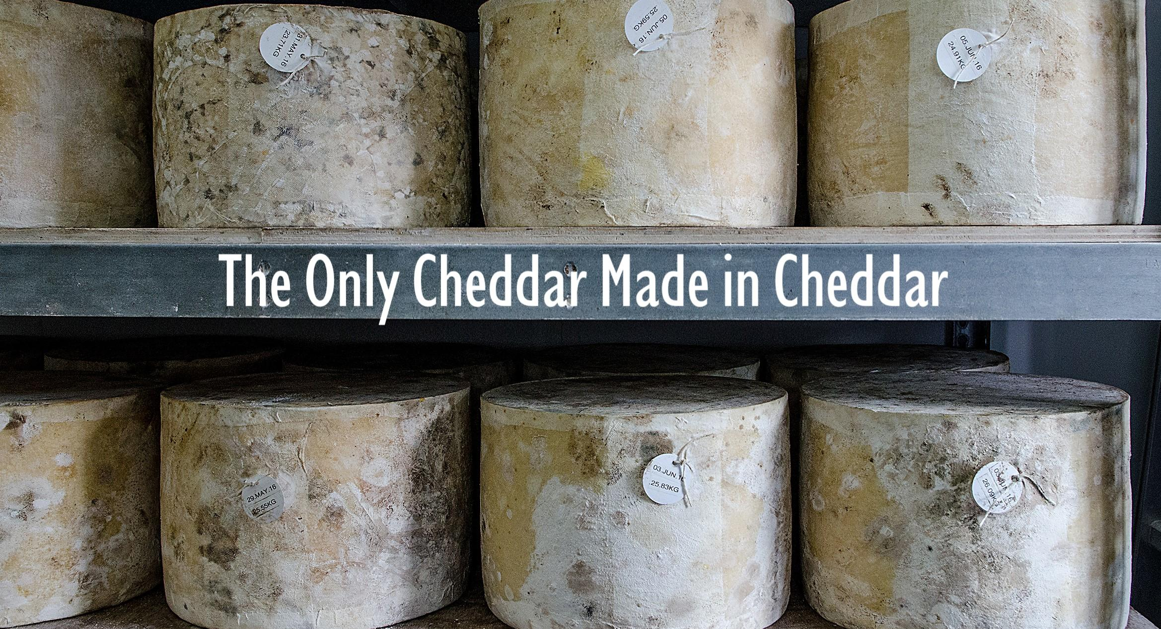 Traditional cloth-bound Cheddar Cheese. Made & matured in the heart of Cheddar Gorge