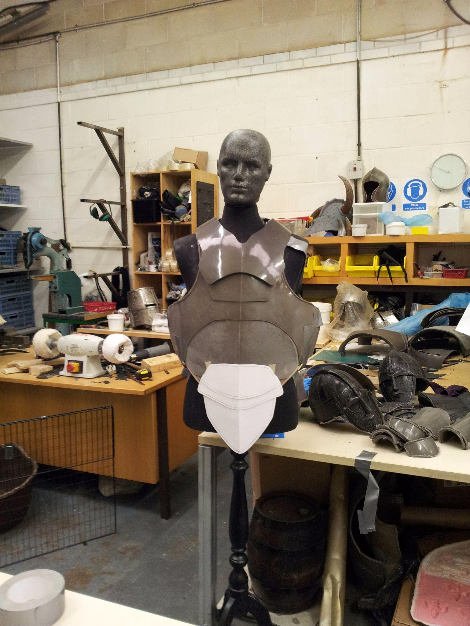 Test fitting on a dummy
