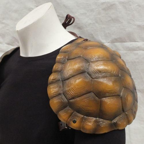 Tortoise shell larp shoulders