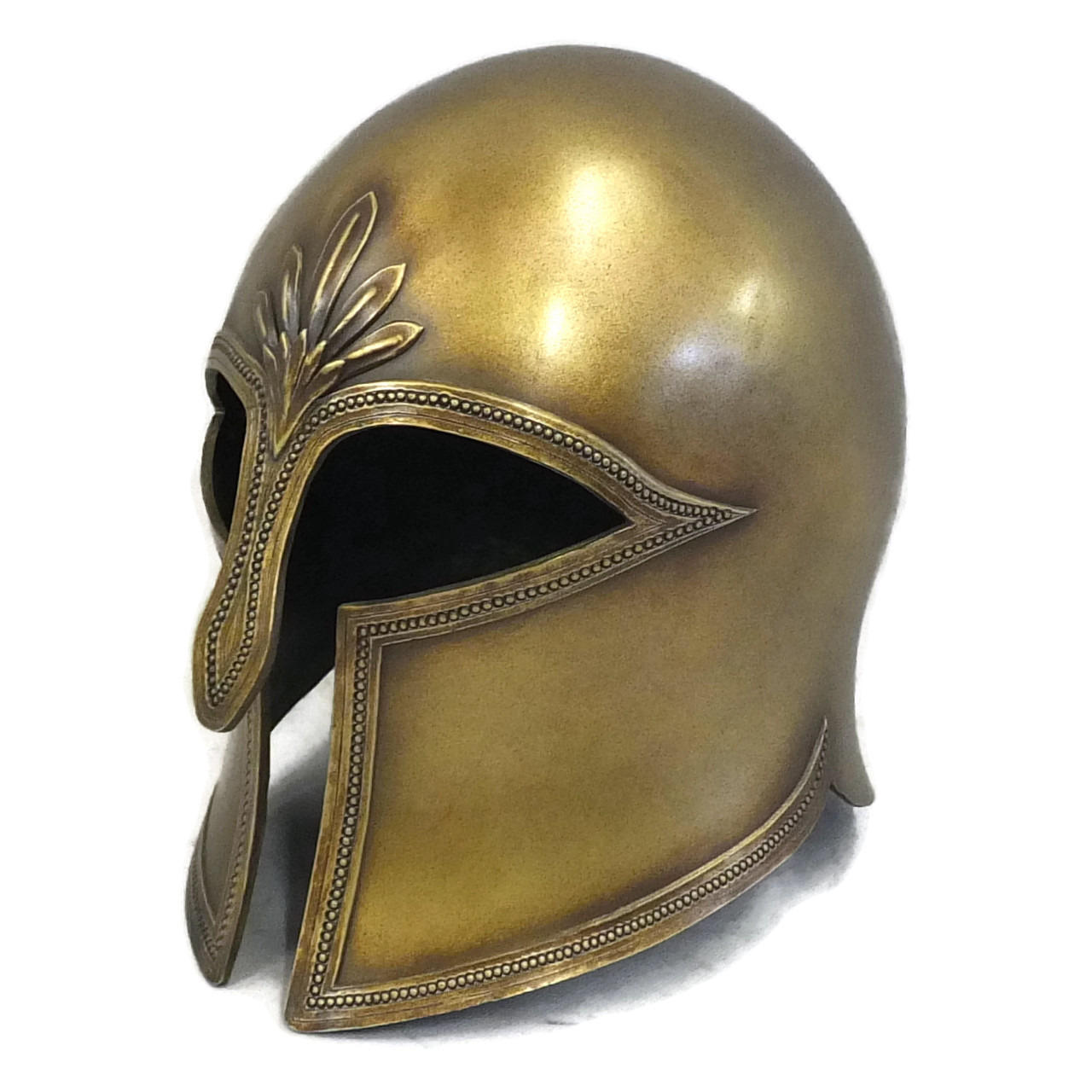Greek Corinthian style larp helmet side