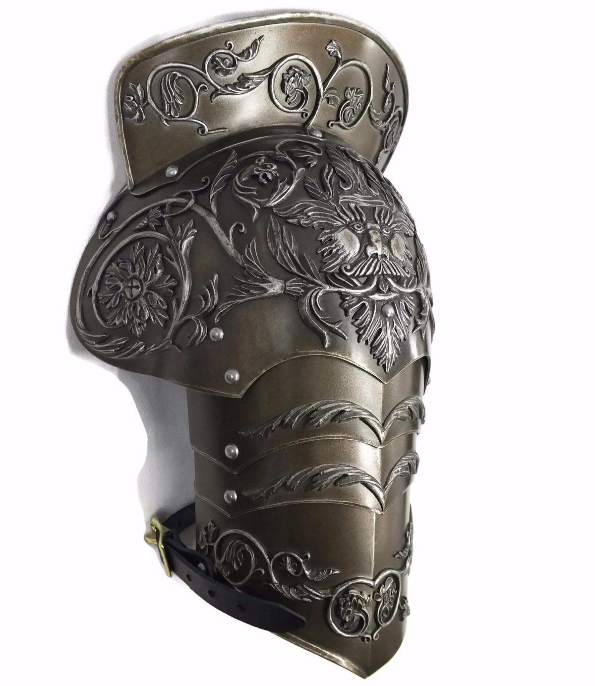 negroli style larp shoulder armour