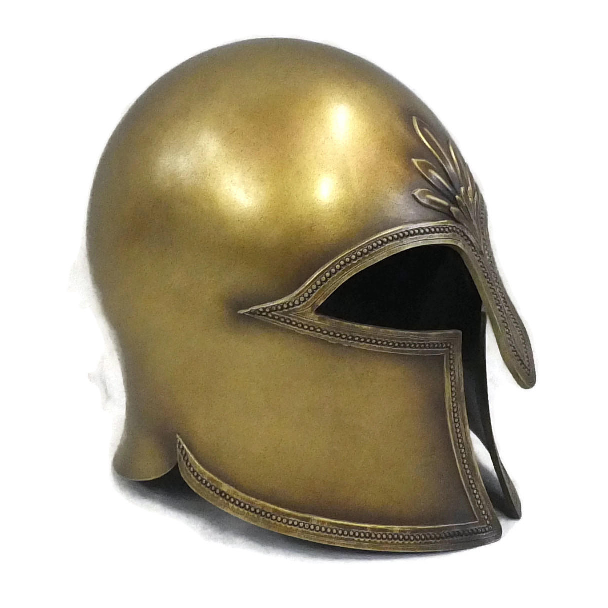 Greek Corinthian style larp helmet left side