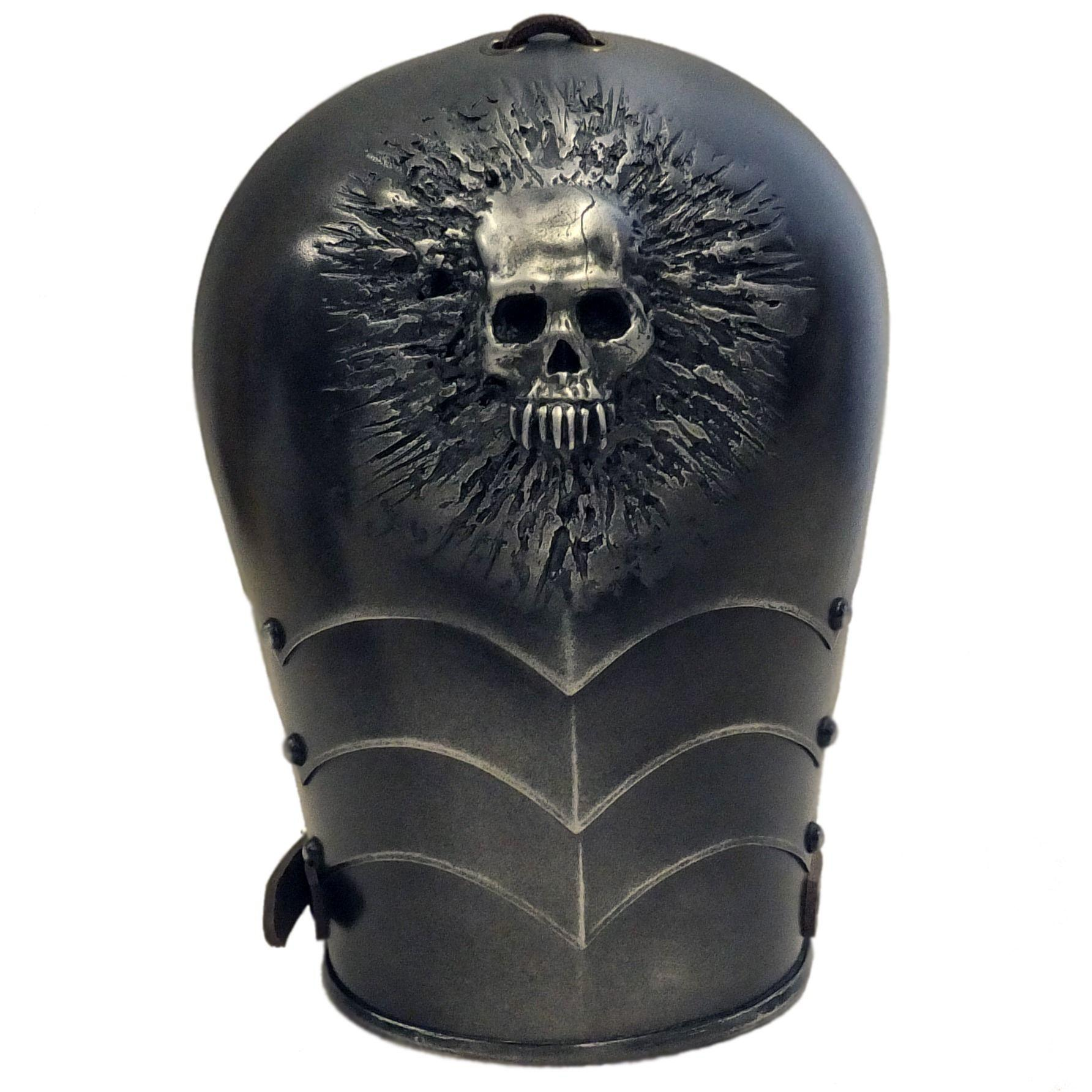 Skull design larp shoulder armour