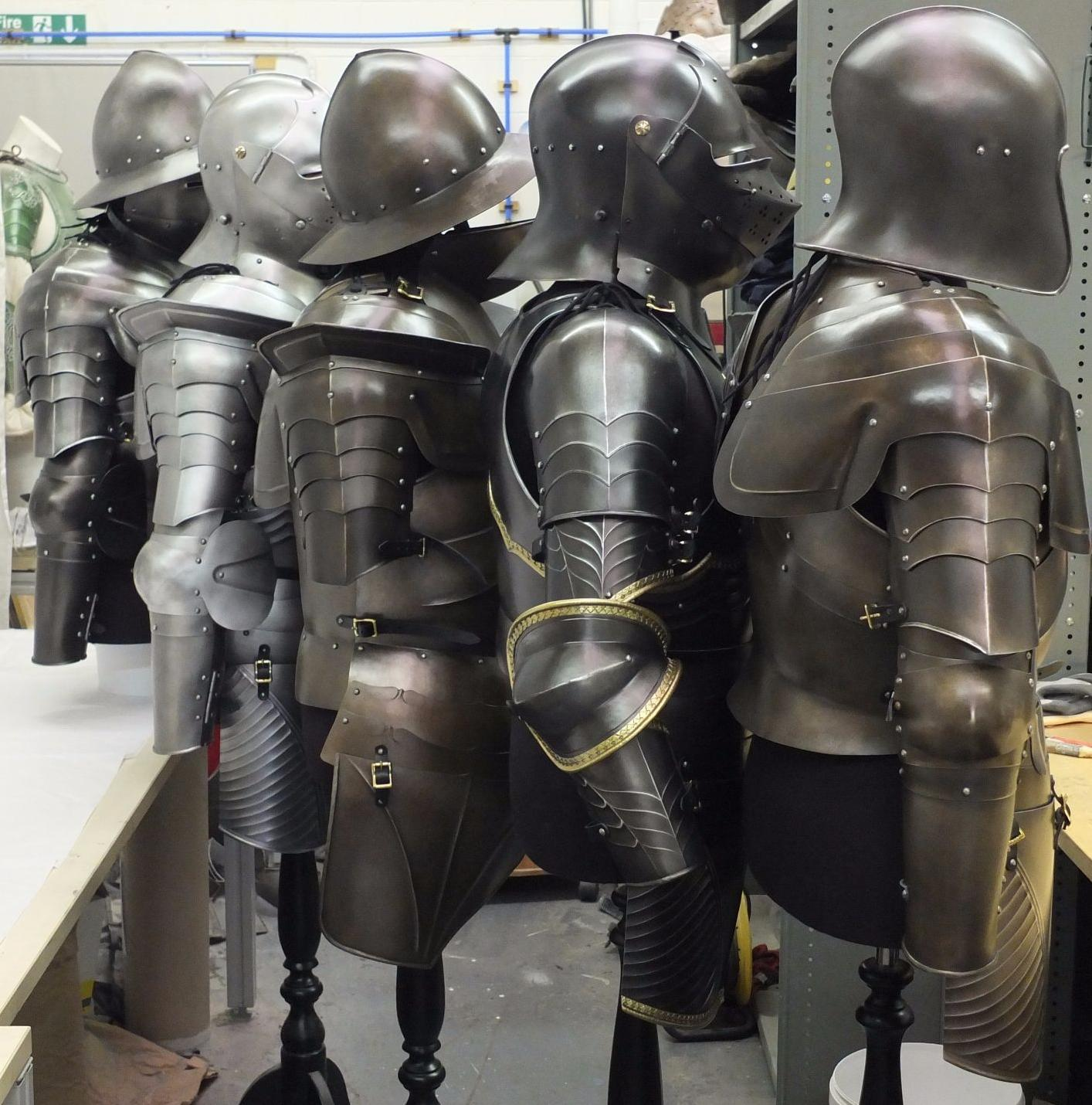 Selection of armours for tv production