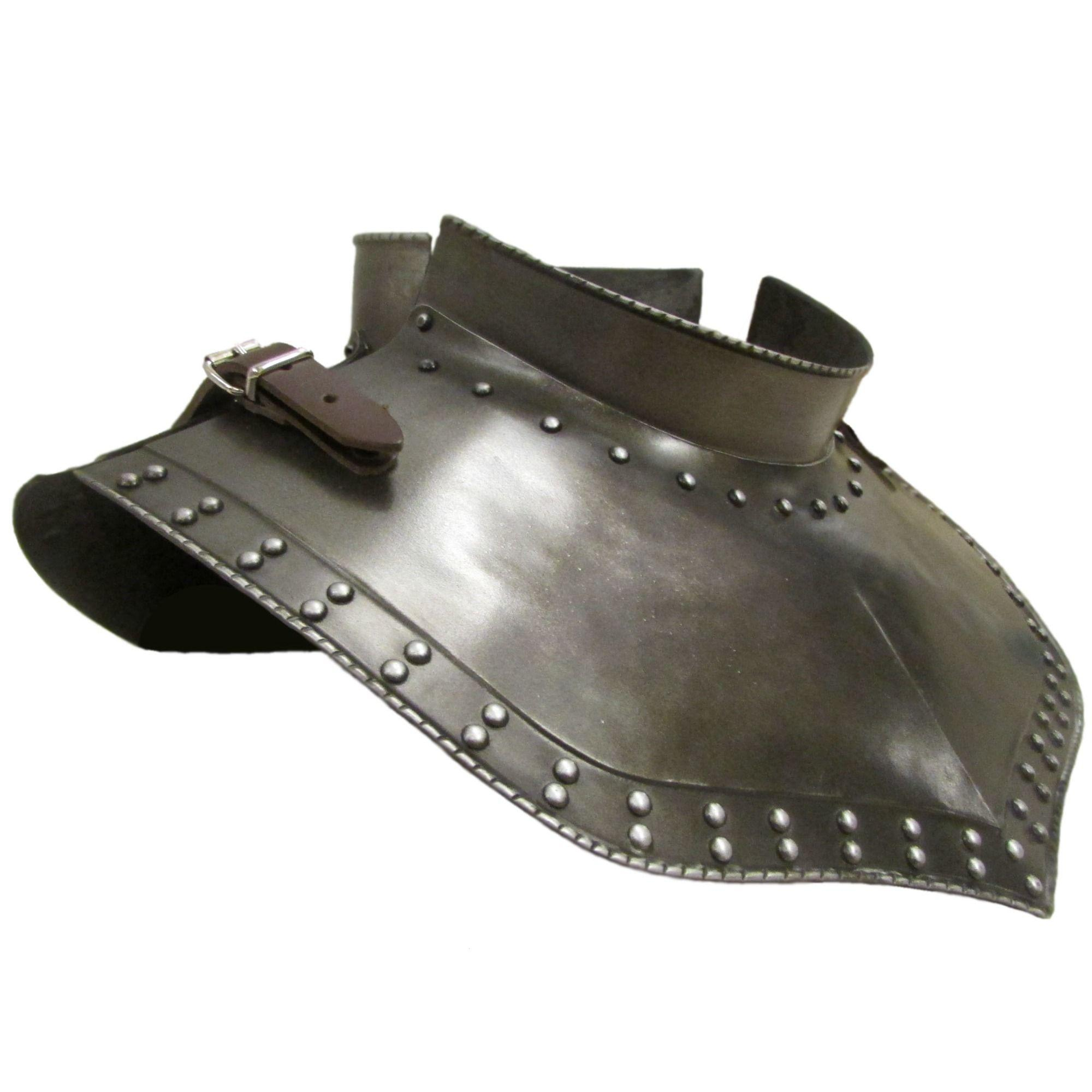 Studded gorget larp armour