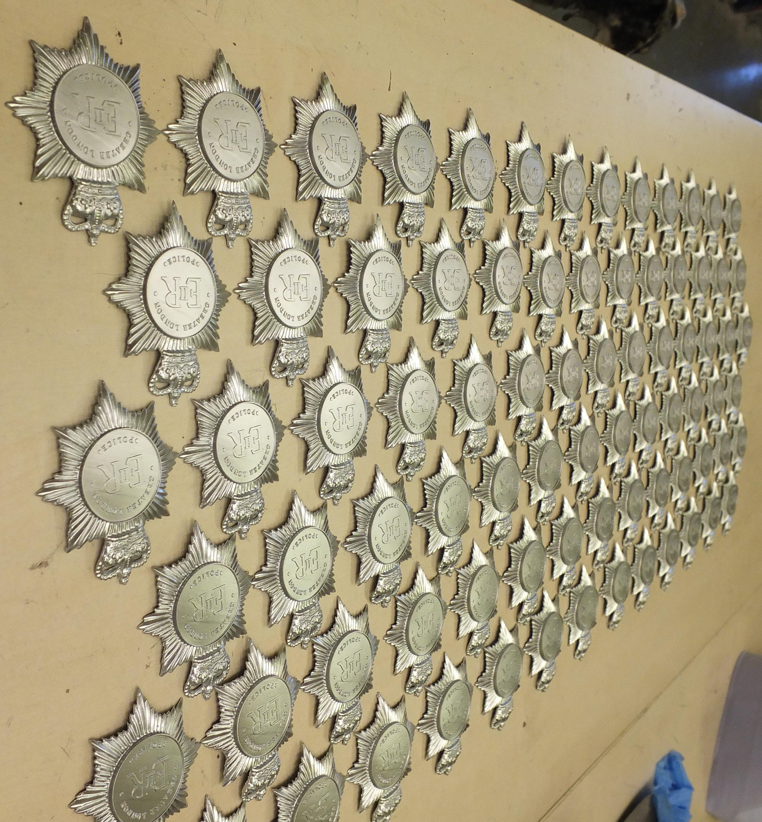 Police badges reproduced from client mould