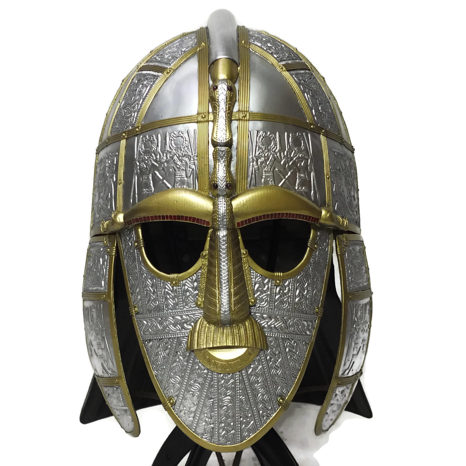 Sutton hoo larp helmet 2 colour