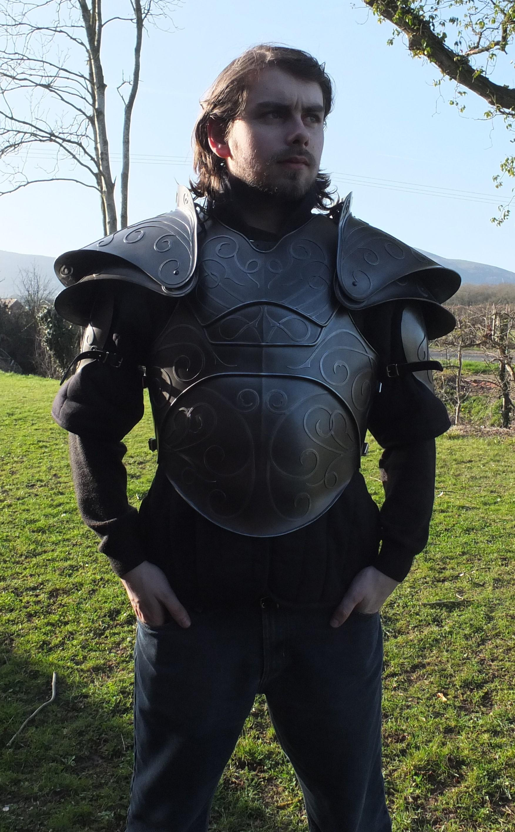 Citadel fantasy larp armour shoulders modelled