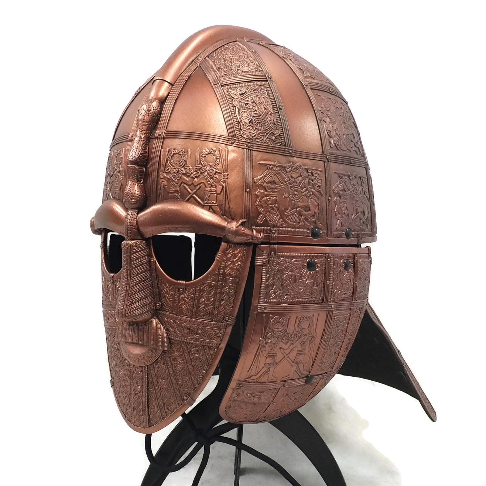 Sutto hoo larp helmet copper