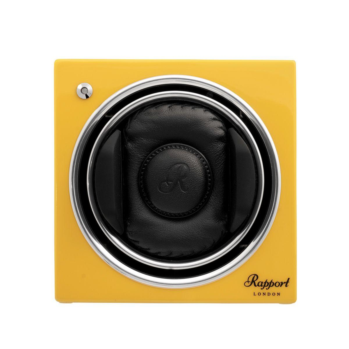 Rapport Evo Cube Watch Winder Citrus Yellow