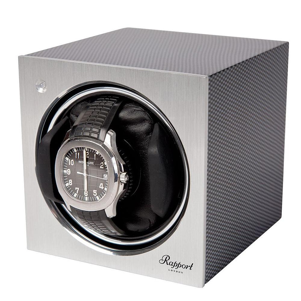 Rapport Tetra Mono Watch Winder in Carbon Finish