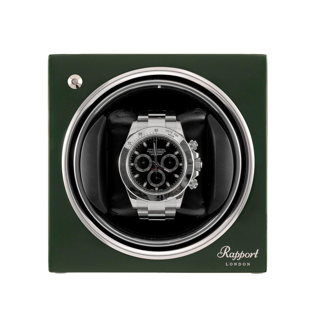 Rapport Evo Cube Watch Winder Racing Green