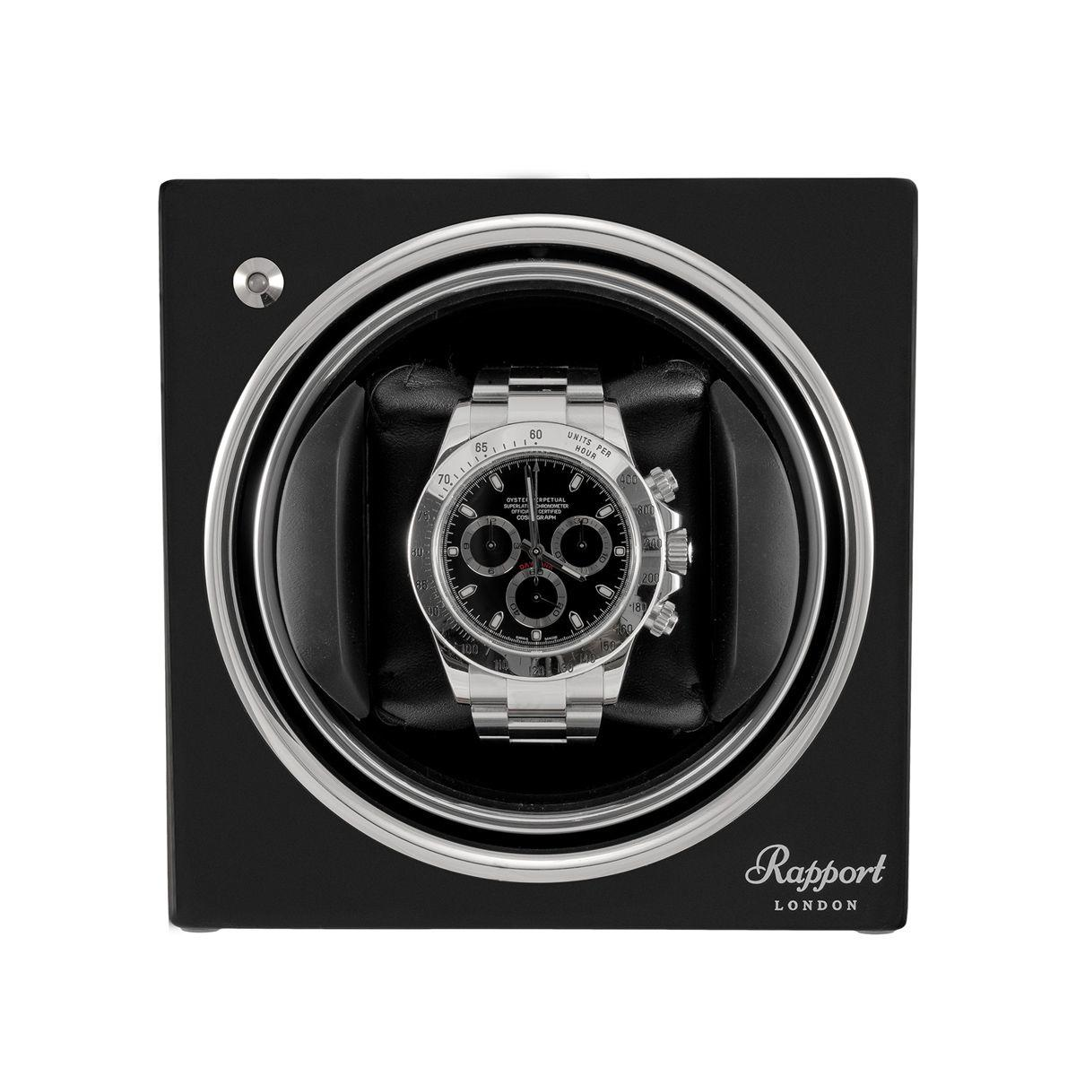 Rapport Evo Cube Watch Winder Midnight Black