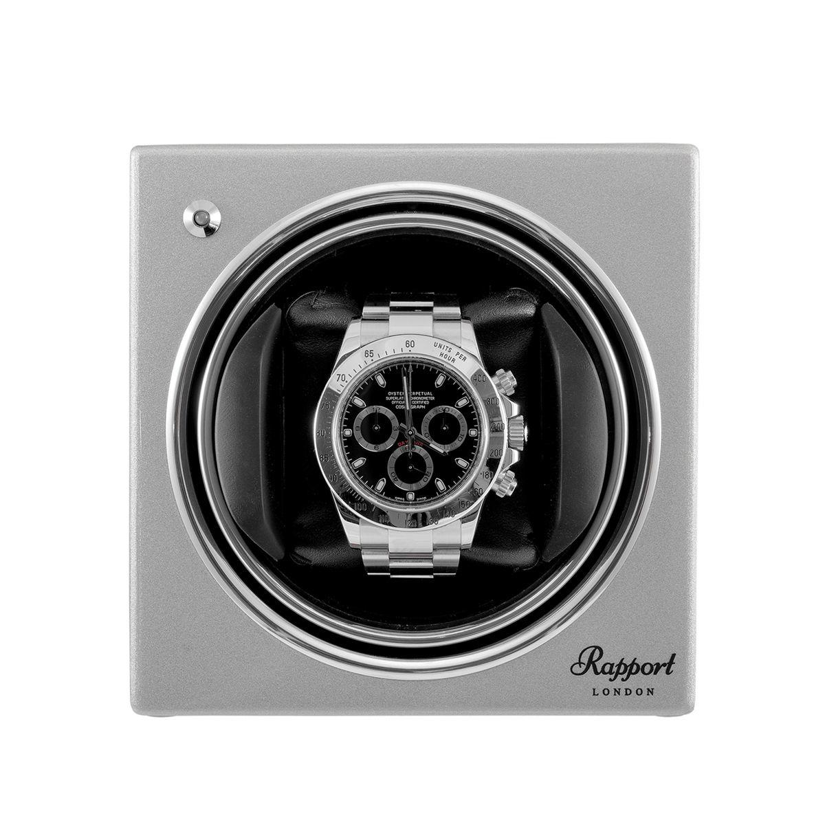 Rapport Evo Cube Watch Winder Platinum Silver