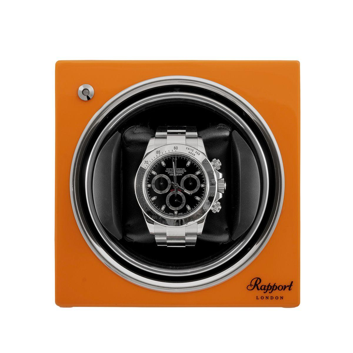 Rapport Evo Cube Watch Winder Sunset Orange
