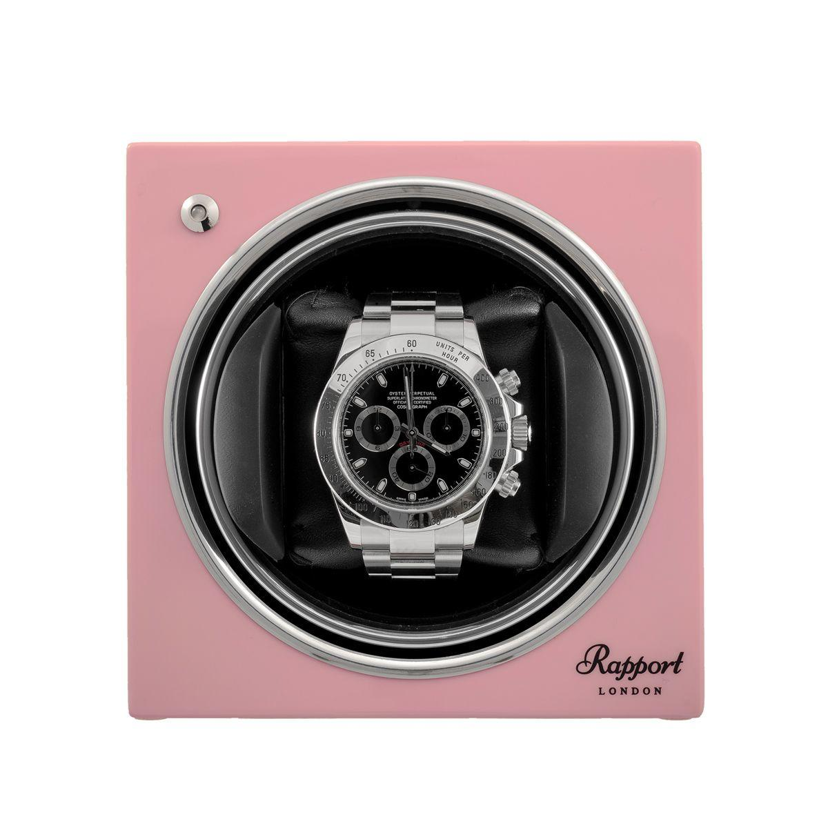 Rapport Evo Cube Luxury Watch Winder Rose Pink