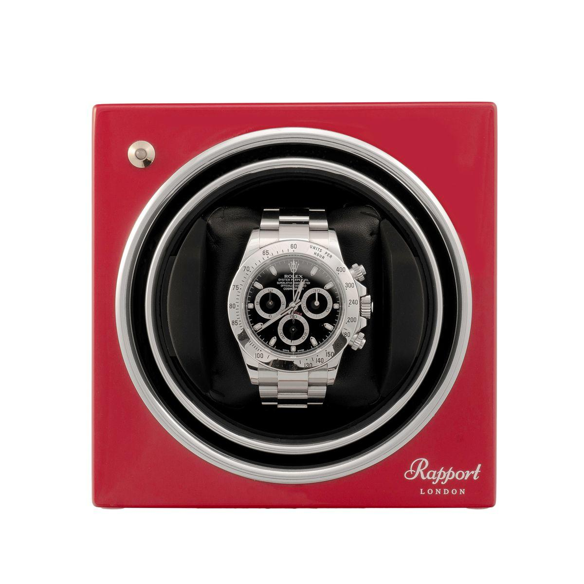 Rapport Evo Cube Watch Winder Crimson Red
