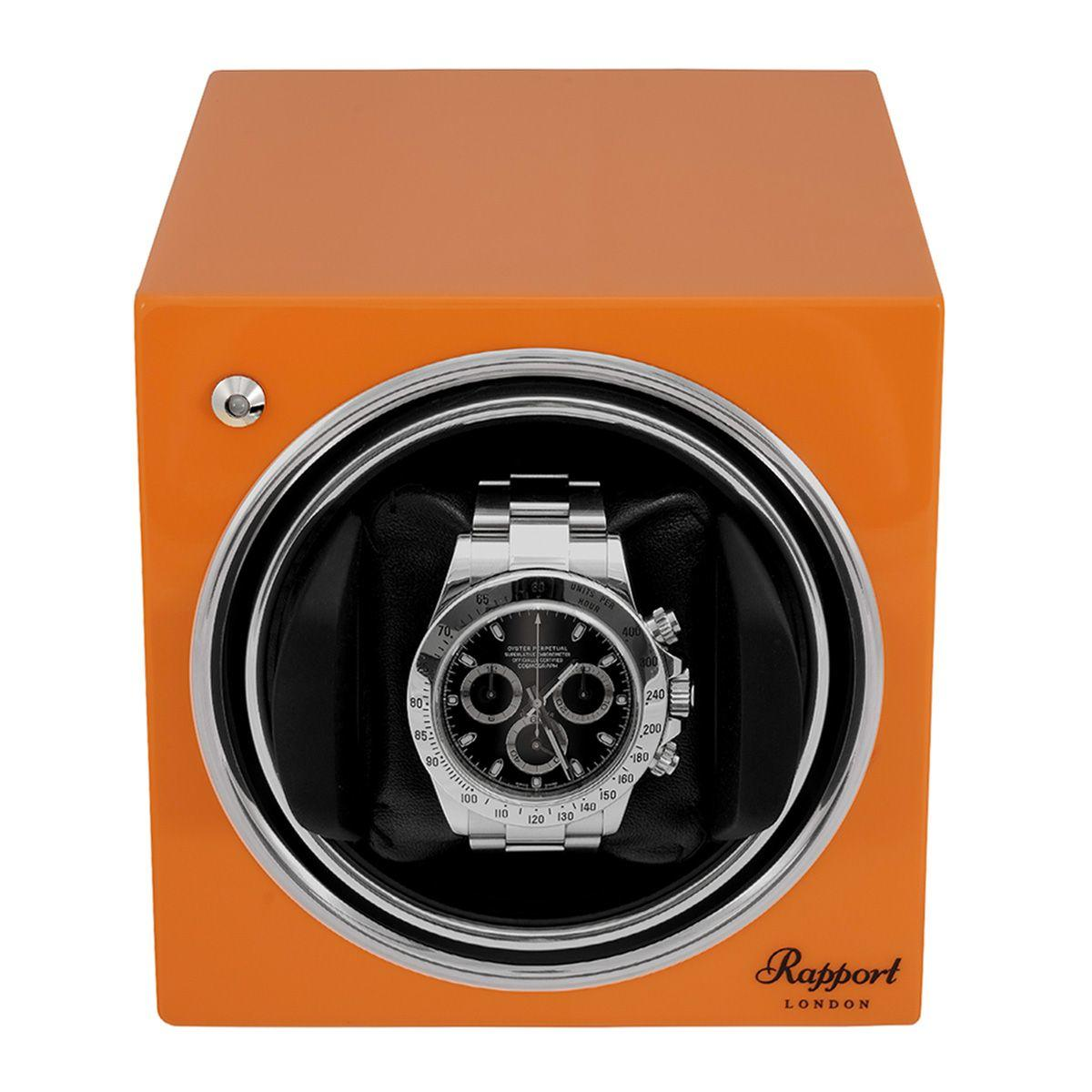 Evo Cube Watch Winder Sunset Orange