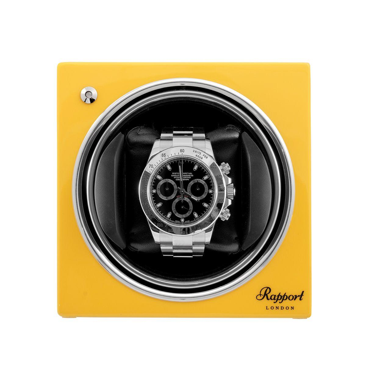 Rapport Evo Cube Watch Winder Yellow