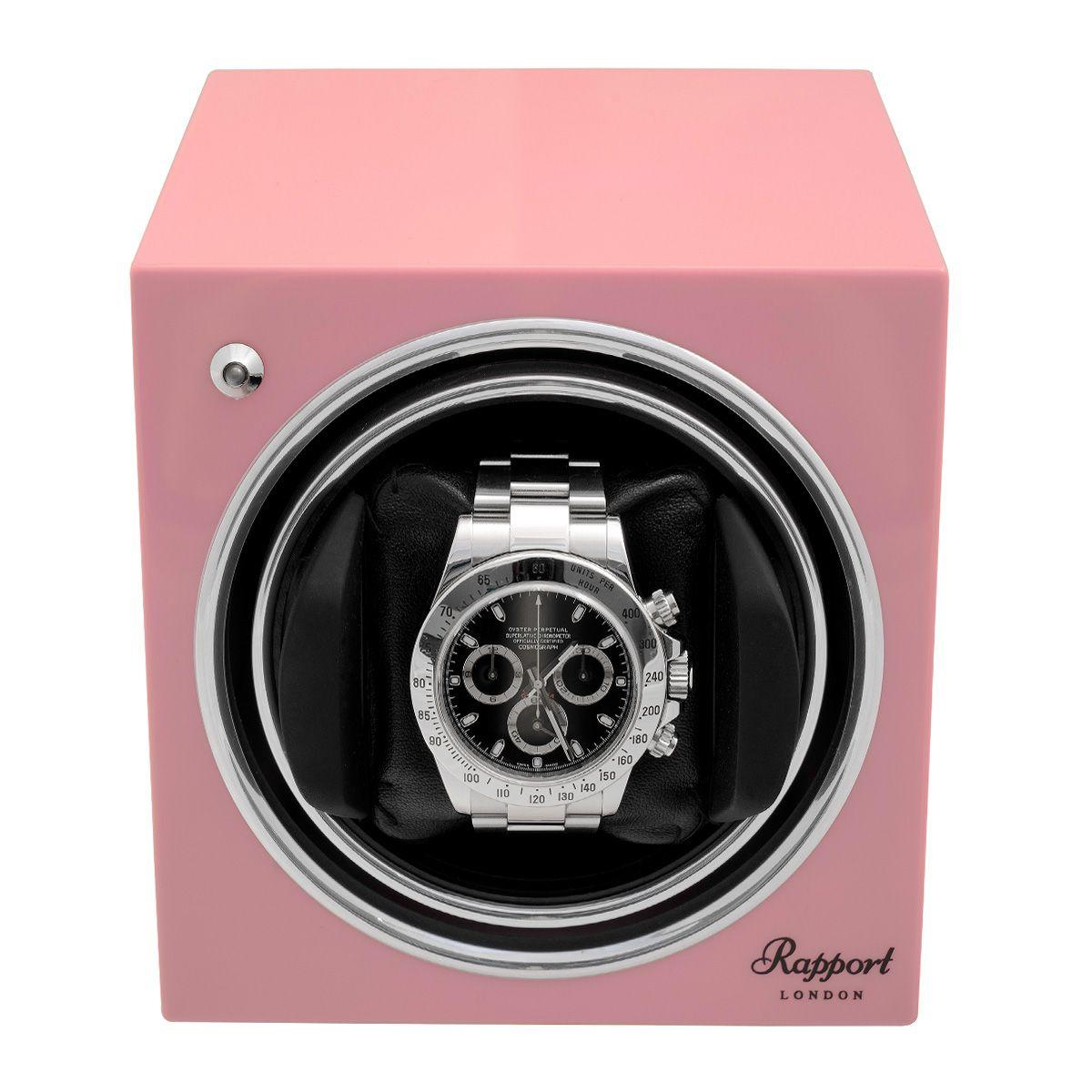 Rapport Evo Cube Watch Winder Rose Pink